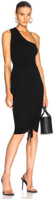 Alexander Wang Ruched One Shoulder Dress