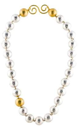 Gurhan Hammered Bead Necklace
