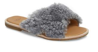 UGG Joni Genuine Shearling Slide Sandal