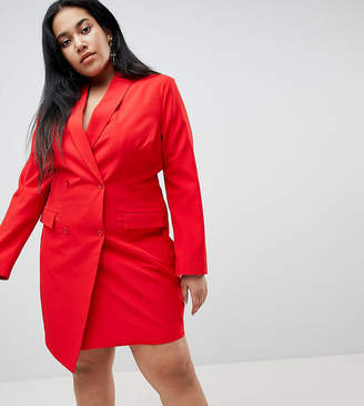 Asos Unique 21 Hero Plus Tuxedo Dress
