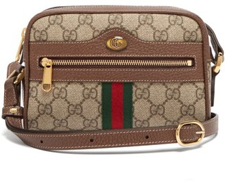 Gucci Ophidia Gg Supreme Cross Body Mini Bag - Womens - Grey Multi