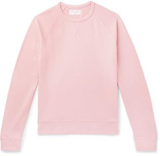 Officine Generale Garment-Dyed Cotton-Terry Sweatshirt - Men - Pink