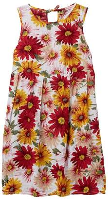 Paulinie Painted Daisy Flower Dress (Toddler, Little Girls, & Big Girls)