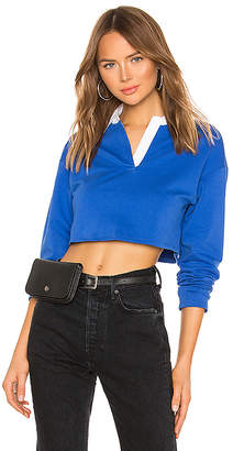 superdown Zolee Cropped Polo Top
