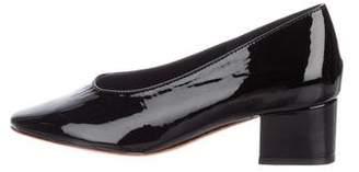 Loeffler Randall Patent Leather Round-Toe Pumps