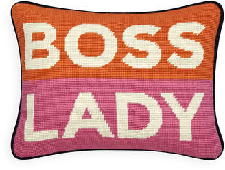 Jonathan Adler Boss Lady Needlepoint Pillow