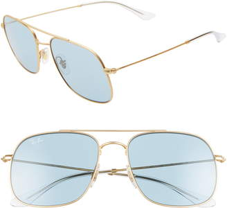 Ray-Ban 56mm Square Sunglasses