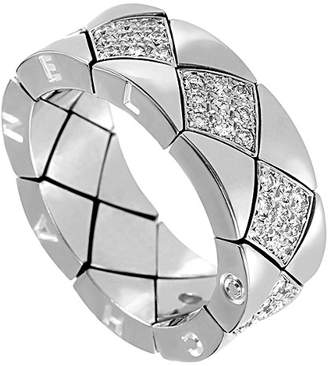 Chanel Heritage  Matelasse 18K White Gold Diamond Eternity Ring
