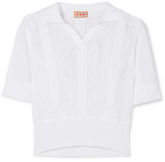 LHD Le Phare Open-knit Cotton Polo Shirt