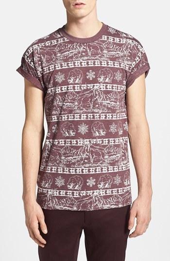 Topman Polar Bear Print Crewneck T-Shirt