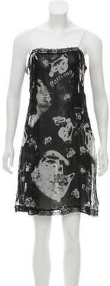 Galliano Silk Mini Dress w/ Tags