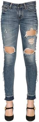 Dolce & Gabbana Ripped Cotton Denim Jeans