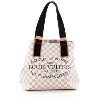 Louis Vuitton Tote Articles de Voyage Beach Cabas Damier Azur PM White/Blue