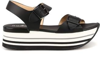 Hogan Maxi H222 Black Sandals