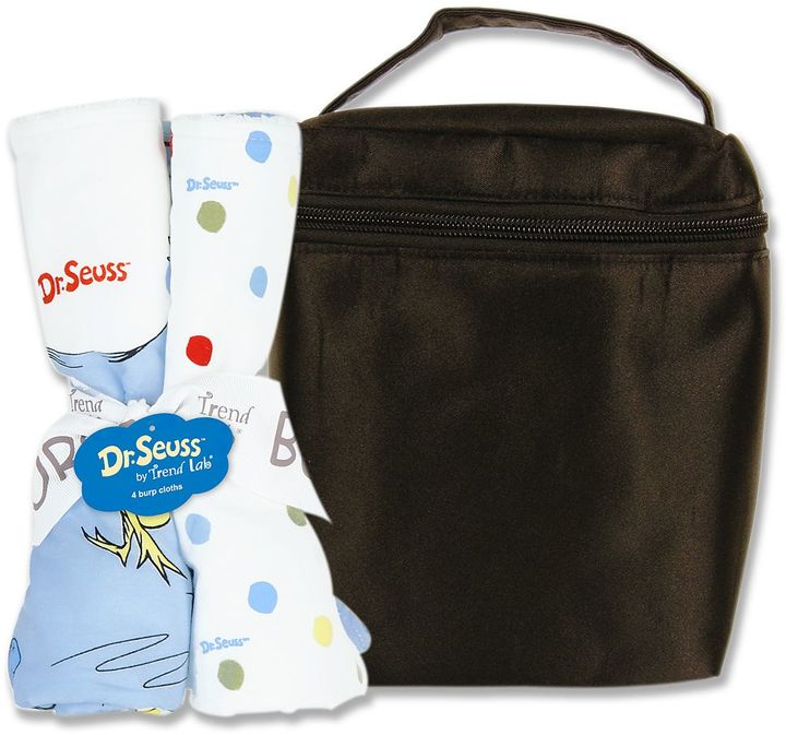 """Trend Lab Dr. seuss """"one fish, two fish"""" 5-pc. bottle bag & burp cloth set"""