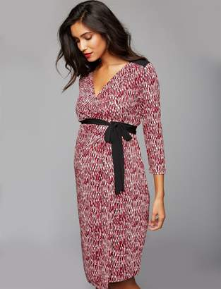 A Pea in the Pod Wrap Maternity Dress