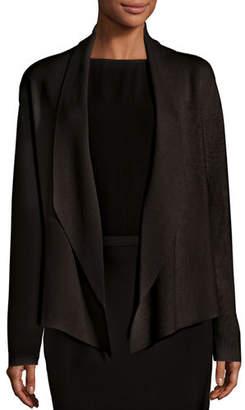 Eileen Fisher Shawl-Collar Draped Knit Jacket, Plus Size