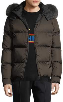 Fendi Men's Solid Hood Jacket