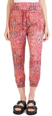 The Kooples Coral Reef Printed Harem-Style Pants