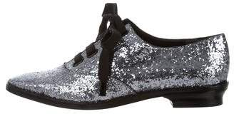 Marc Jacobs Glitter Lace-Up Oxfords