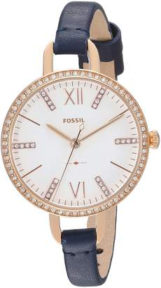 Fossil Women's 'Annette' Quartz Stainless Steel and Leather Casual Watch, Color (Model: ES4403)