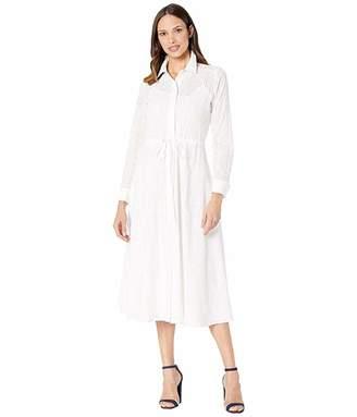 Calvin Klein Long Sleeve Cotton Maxi Dress