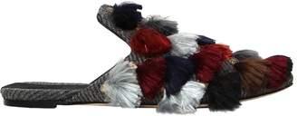 10mm Eloise Wool Mules W/ Tassels