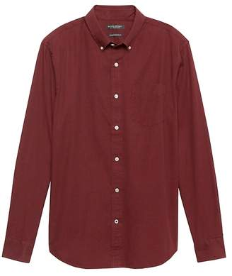 Banana Republic Camden Standard-Fit Heathered Oxford Shirt