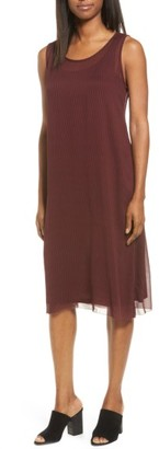 Women's Eileen Fisher Print Shift Dress With Slip $388 thestylecure.com