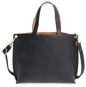 Junior Women's Street Level Reversible Faux Leather Tote - Black $44 thestylecure.com