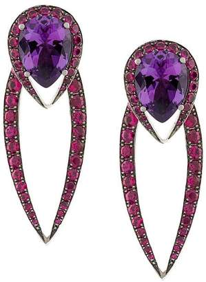 Shaun Leane 18kt gold Aurora earrings