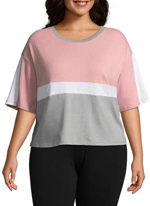 Flirtitude Colorblock Cropped Tee - Juniors Plus