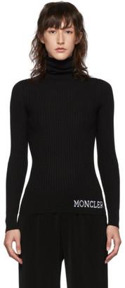 Moncler Black Ribbed Turtleneck