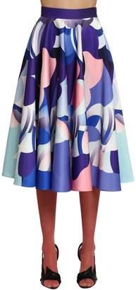Emilio Pucci Duchesse Satin A-Line Skirt