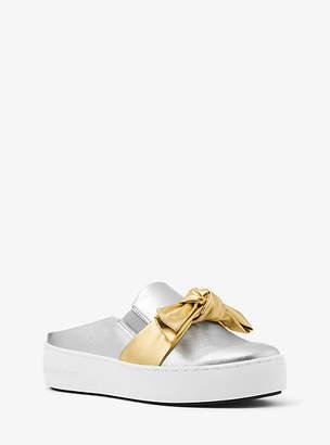 Michael Kors Willa Metallic Leather Slip-On Sneaker