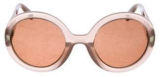 Salvatore Ferragamo Gradient Round Sunglasses