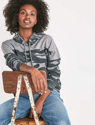 Lucky Brand CAMO COLORBLOCK HOODIE
