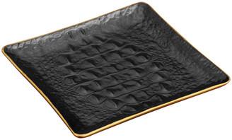 L'OBJET Crocodile Square Desk Tray - Gold - 15cm