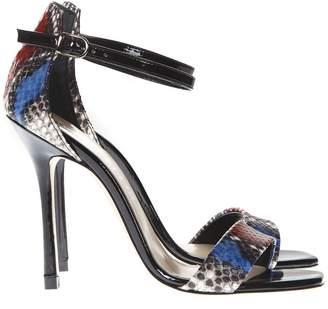 aa8208b4eb58a Marc Ellis Multicolor Patent Leather Python Pattern Sandals