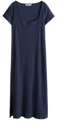 Violeta BY MANGO Ribbed cotton dress