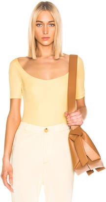 Acne Studios Ellora Bodysuit in Pale Yellow | FWRD