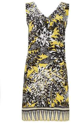 Wallis Ochre Palm Print Shift Dress