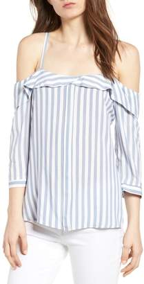 Bishop + Young BISHOP AND YOUNG Kelly Stripe Off the Shoulder Top