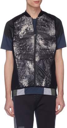 Dyne 'Alcorn' tie-dye effect puffer panel vest