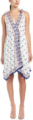Ella Moss Tie-Strap Midi Dress