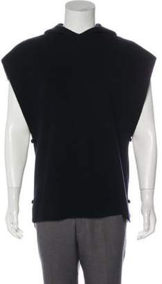 Givenchy Wool Hooded Sweater Vest black Wool Hooded Sweater Vest