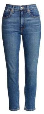 RE/DONE Comfort Stretch High-Rise Ankle Skinny Jeans