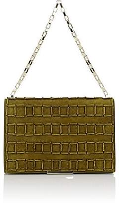 Tomasini Women's Square-Detailed Shoulder Bag - Bamboo Green