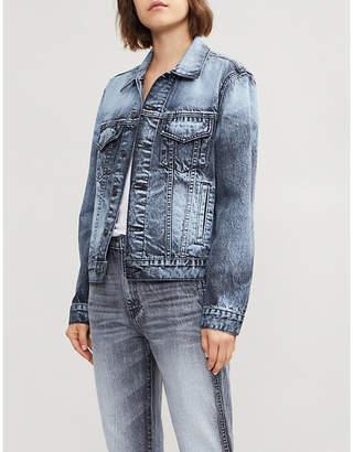 SLVRLAKE Trucker faded denim jacket