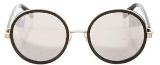 Jimmy Choo Mirrored Round Sunglasses